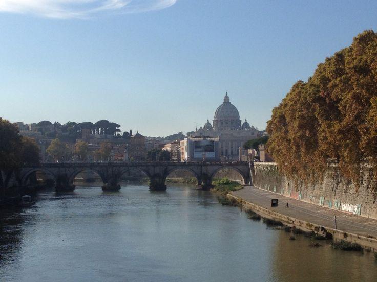 Lungotevere con Basilica di San Pietro in lontananza