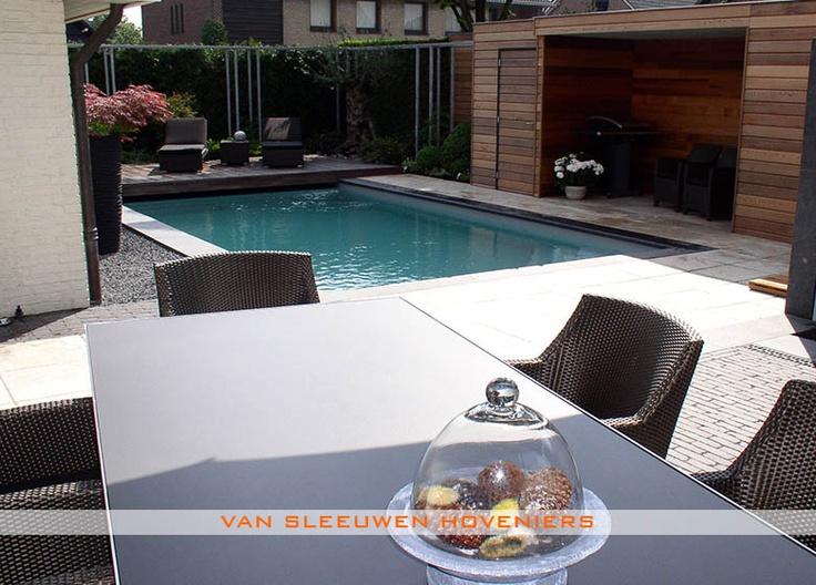 Tuin met zwembad ontwerp aanleg door van sleeuwen hoveniers veghel meer tuinen met - Outdoor decoratie zwembad ...