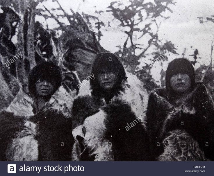 The Yaghan; also called Yagán; Yahgan; Yámana; indigenous peoples of Stock Photo, Royalty Free Image: 104158844 - Alamy