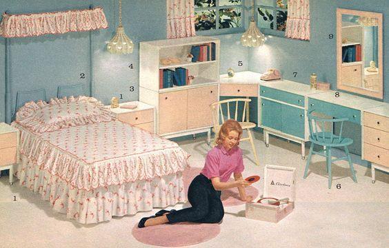 teen bedroom - 1964: