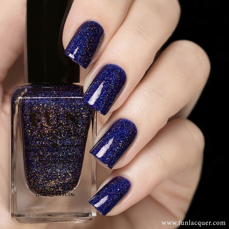 Get lost with this deep purple holographic polish to add to your nails. Collection: Summer 2015 Collection