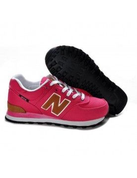NEW BALANCE 574 FEMME PINK ROUGE MARRON CHAUSSURES CHAUSSURES
