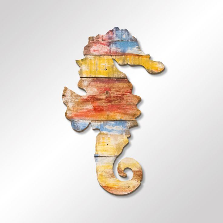 Legno di recupero dipinto, altezza 60 cm • Info: enrico@ynedit.it