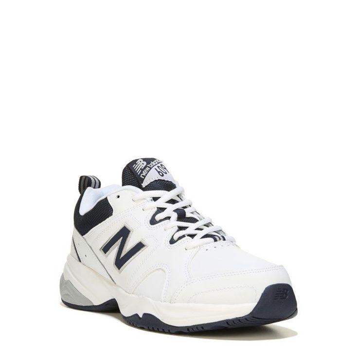 New Balance Men's 609 V3 Memory Sole X-Wide Sneakers (White/Navy) - 16.0 4E