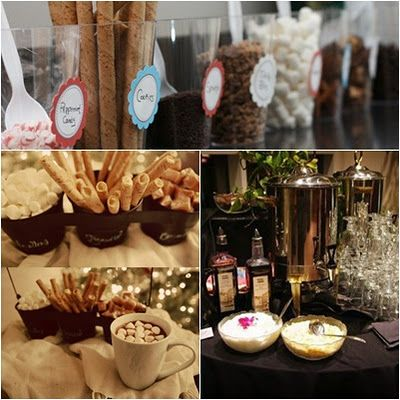 hot chocolate bar: Coco Bar, Bar Ideas, Hot Cocoa Bar, Baby, Elle Entertains, Christmas Ideas, Hot Chocolates Bar, Hot Chocolate Bars, Elle Entertainment