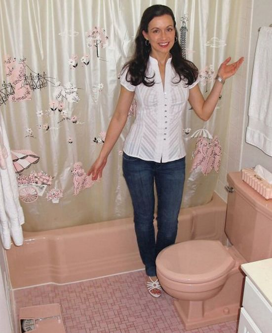 "A whole website devoted to ""Save the Pink Bathrooms""  This little website grew out of concern that pink bathrooms are being ripped out of 40s 50s and 60s homes way too hastily. The reality is: Pink bathrooms are a wonderful part of our home design heritage. And there is no doubt in our minds whatsoever that they are poised for a comeback -- starting here, starting now."