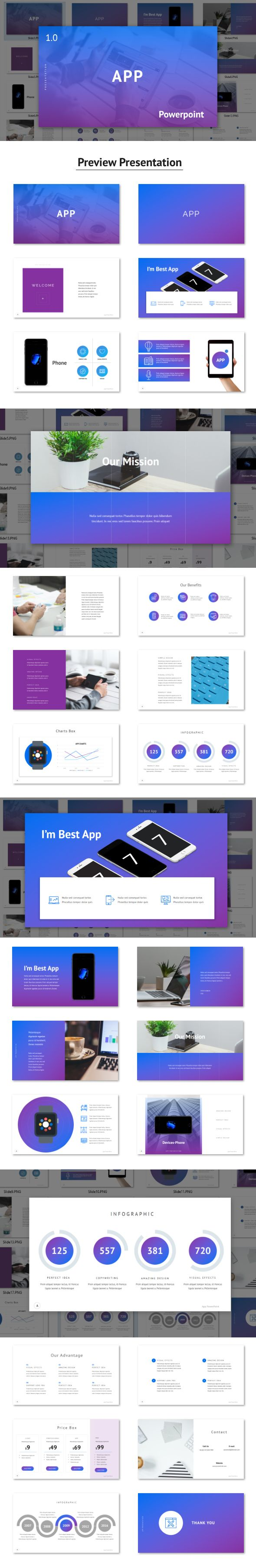 App - #Powerpoint Template - PowerPoint #Templates Presentation Templates Download here: https://graphicriver.net/item/app-powerpoint-template/19607858?ref=alena994