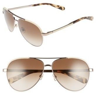 Shop Now - >  https://api.shopstyle.com/action/apiVisitRetailer?id=656249303&pid=uid6996-25233114-59 Women's Kate Spade New York Amarissa 59Mm Polarized Aviator Sunglasses - Beige/ Brown  ...