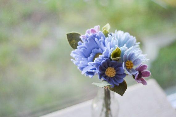 Mum Peony & Wildflower Felt Flower Bouquet / by LeaphBoutique