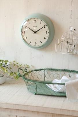 horloge vert d'eau délicieusement vintage #tiBiHantiBiHan