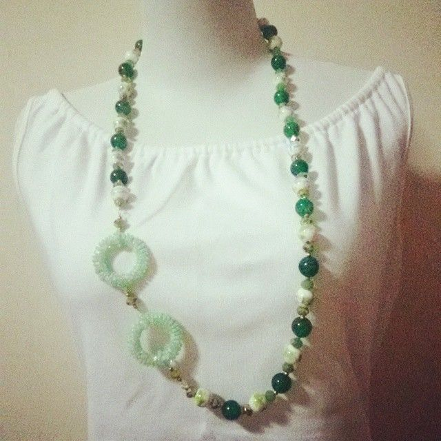 """""""Stone, ceramics, & beads"""" kalung/necklace"""