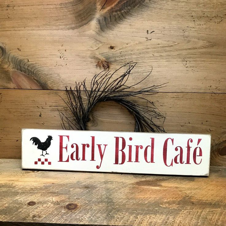 Early Bird Cafe, Rustic Kitchen Decor