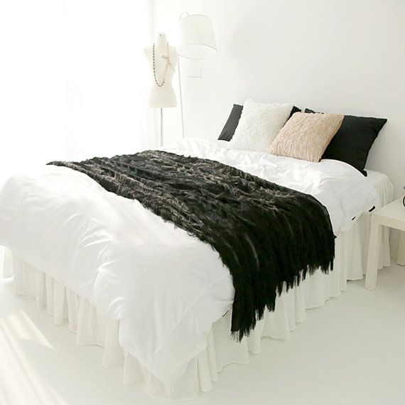 Elivate your bed with Handmade Fringes Sheer Bed Runner Decorative Bed Runner Accent Bed Scarf Customized Bed Runner Personalized Bed Scarf Bed Runner Accent Bed Scarf 51W X 90L Can be displayed in center, middle of bed, or nearer the foot of the bed. * Color of Choices : Black (1