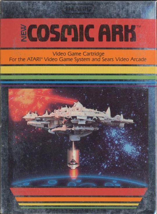 Video Game Nation (cover) Cosmic Ark, Atari 2600, Imagic, 1982 #80s #atari2600 #imagic #retrogaming