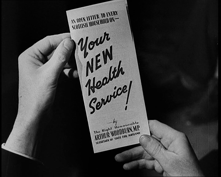 Trailer advertising the National Health Service in the 1940s: http://www.britishpathe.com/video/leaflet-for-the-new-national-health-service-scotti