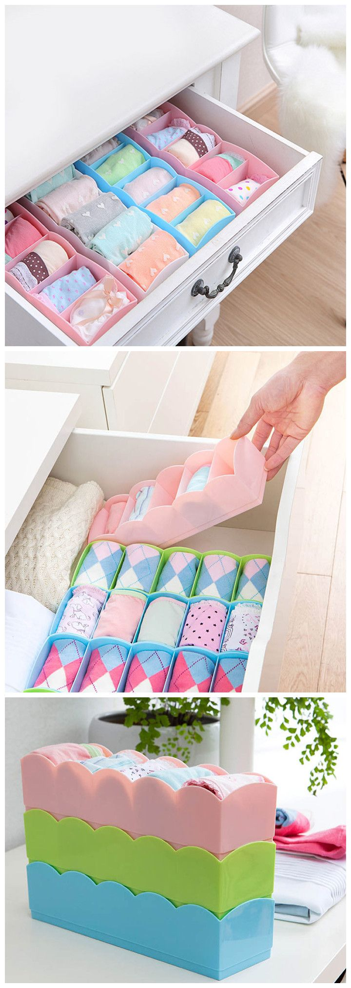 Save up your precious living spaces simply by the underwear drawer storage box into your drawer or desktop