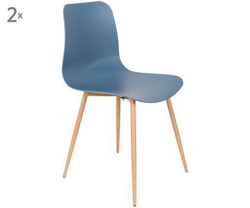 Stühle Leon, 2 Stück, Blau