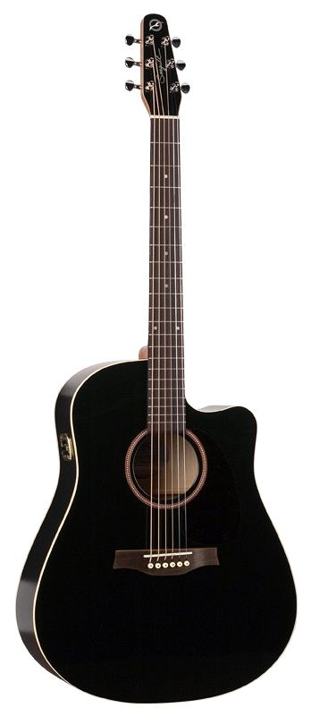 SEAGULL Entourage Black CW Gloss Top w/QI Electronics Acoustic-Electric | Chicago Music Exchange