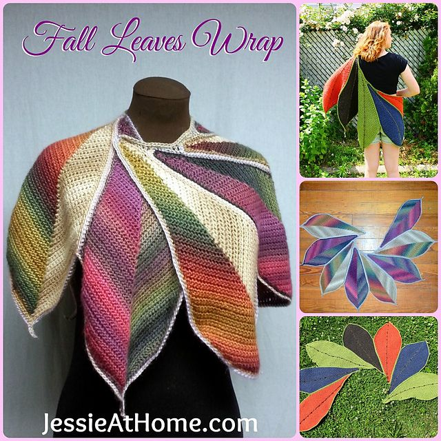 Ravelry: Fall Leaves Wrap ~ CGOA Design Competition Winner pattern by Jessie Rayot