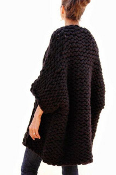 Knit Swing Coat That I Would Rock with Everything in My Closet - It's Amazing