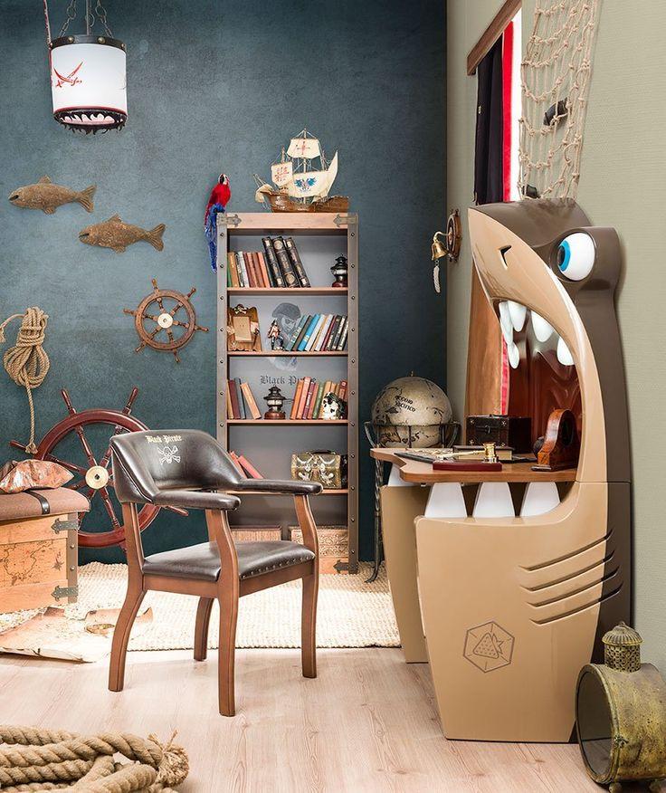 Shark Study Desk Interior décor for kids bedroom