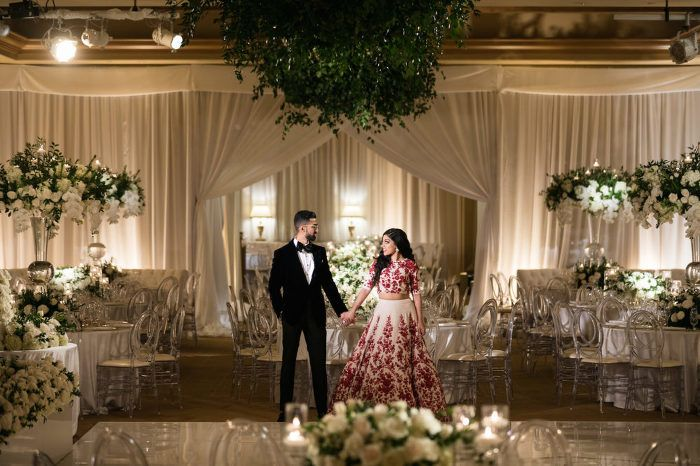 love how the couple + the decor are captured in one frame