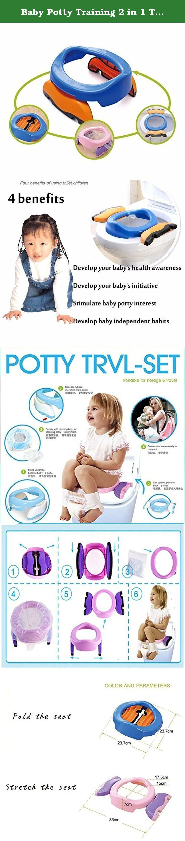 Baby Potty Training 2 in 1 Toilet Training seat & Seat Cover Foldable Travel Potties Pink Color for Girl age 2 years and Up to 60lbs. Baby Potty Training 2 in 1 Toilet Training seat & Seat Cover Foldable Travel Potties Pink Color for Girl age 2 years and Up to 60lbs.