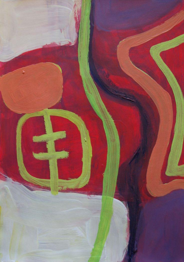James Jonker Untitled 2014 Acrylic on Paper 29.5cm x 21cm