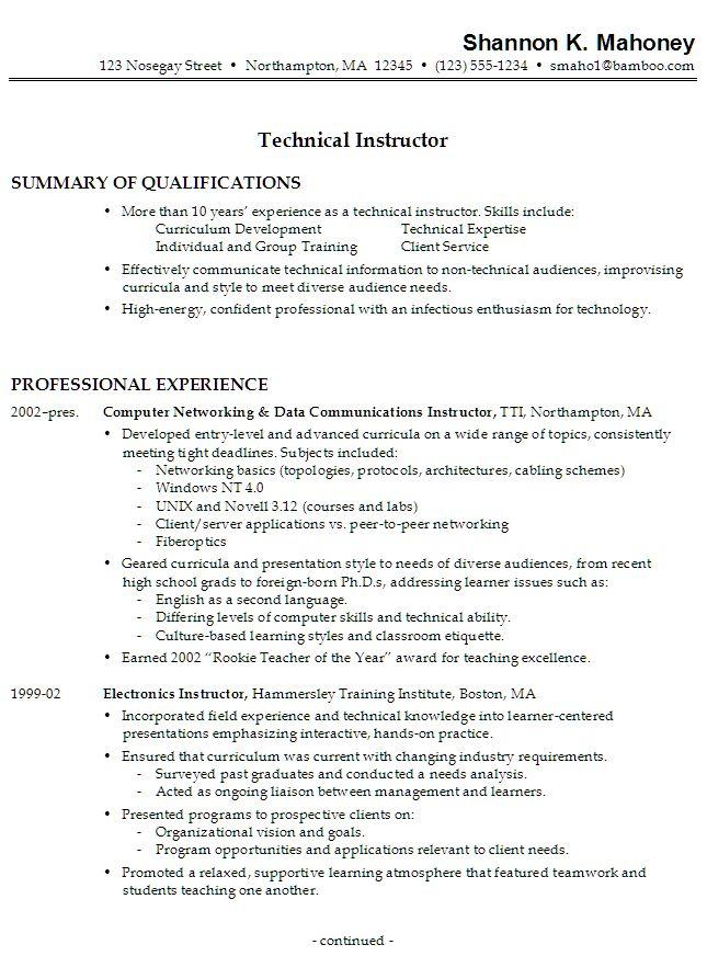 Technical Writer Functional Resume Sample - http\/\/www - functional style resume