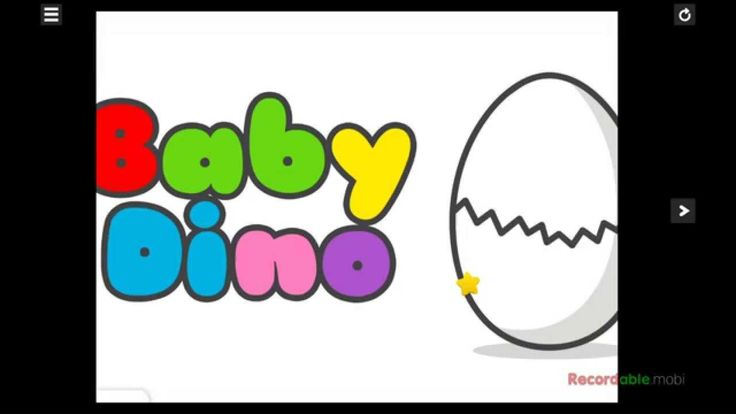 Baby Dino surprise eggs мультик про цвета и динозавров деток English