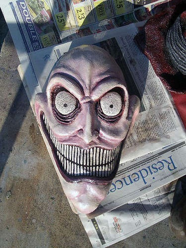 scary mask, from instructables.com: Halloween Idea, Halloween Props, Halloween Makeup, Halloween Crafts, Scary Halloween Masks, Halloween Fright Holiday, Halloween Decor Crafts, Haunted Circus Freak