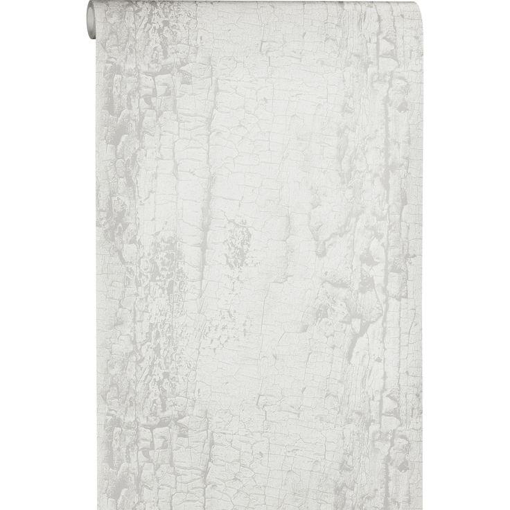Haal een vleugje natuur in huis met vliesbehang Avery voorzien van boomschors print. Kleur: grijs. #kwantumbelgie #behang #vliesbehang #boomschors #muur #muurdecoratie