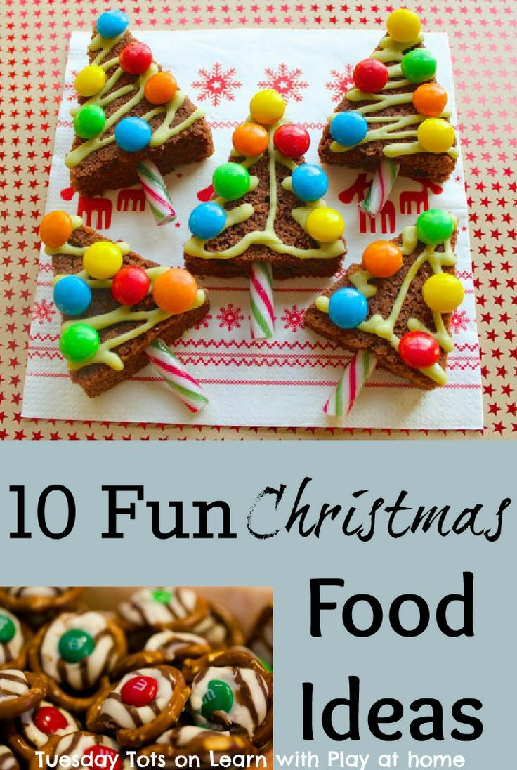 10 Fun Christmas Food Ideas. Perfect for cooking in the classroom