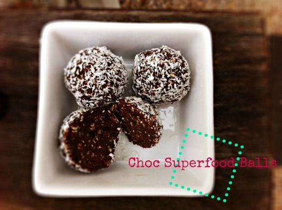 Choc Superfood Balls - a recipe I should try but alas... probably won't