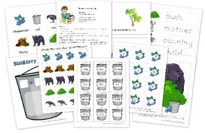 Printables and Lesson for Blueberries for Sal