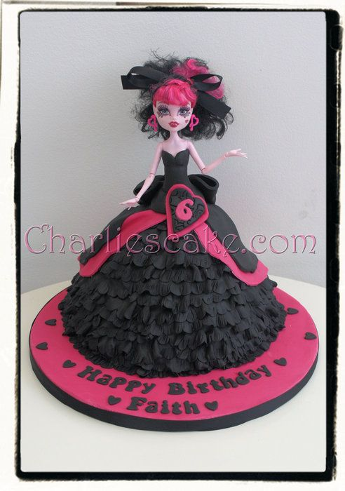 pics of monster high birthday cakes | Monster High Doll Cake - by Charliescakeshop @ CakesDecor.com - cake ...