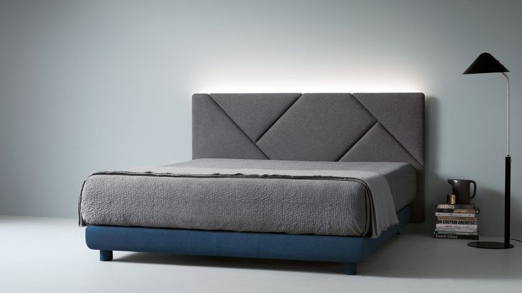 Double bed / contemporary / fabric / upholstered OPUS by Sandi Renco CACCARO