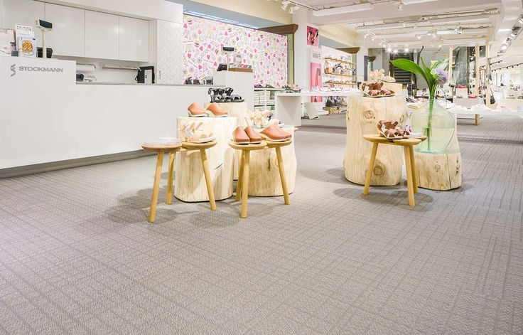 Bolon flooring in the Stockmann Department Store in Helsinki, Finland
