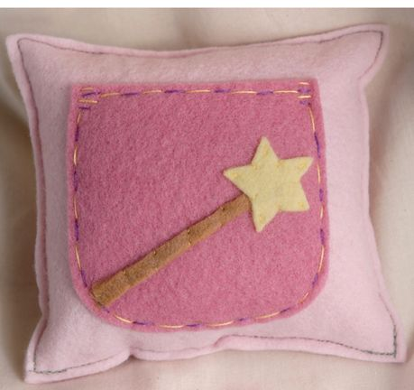 cute tooth fairy pillow - made as opposed to buying...they wanted 35/on sale for 19 for something it took me 10 minutes to make!  Granted, I used eco-felt instead of hand dyed, but I bet mine is just as cute and my daughter got to pick out her colors, so she's thrilled!