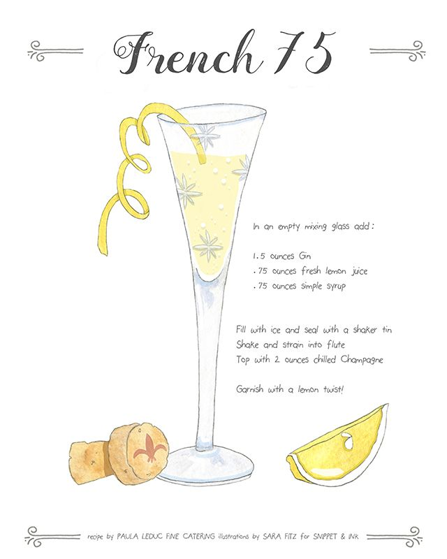 Who doesn't love a classic cocktail? Just add a little lemon juice, simple syrup and your favorite champagne to create the classic French 75!