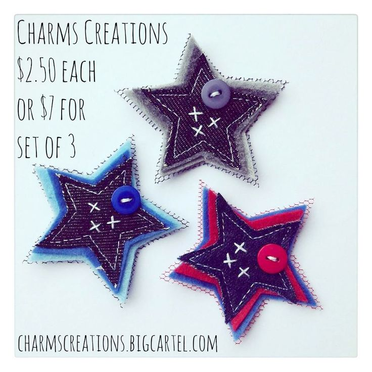 Denim Super Stars / Charms Creations