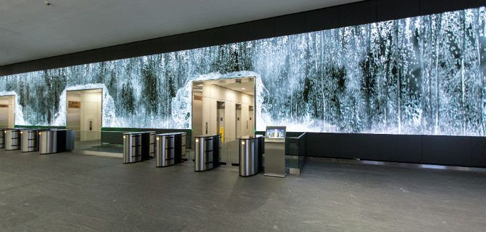 Fluid Dynamics: LED Video Wall at Salesforce Corporate Headquarters