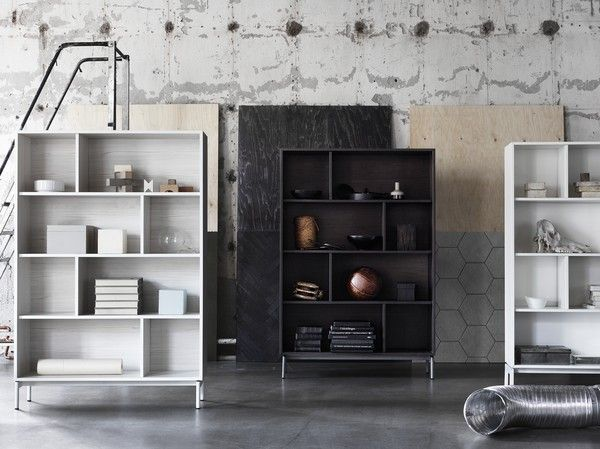 Valje storage system from Ikea. Ideal for the boxed in pipes issue