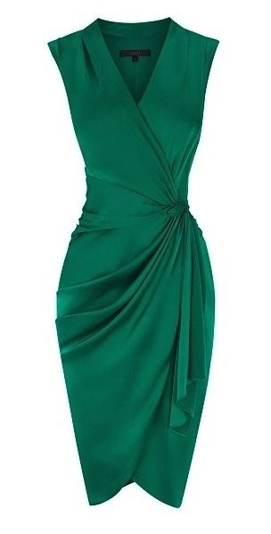 Ruched dress-emerald green Check out Dieting Digest