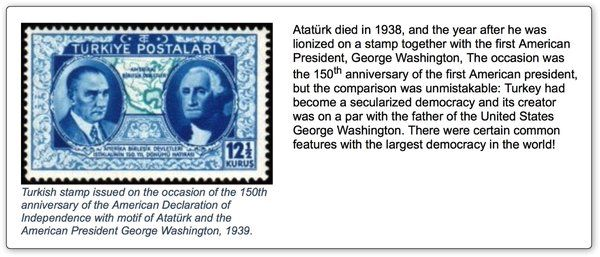 #Atatürk, the founder of Turkish Republic and #GeorgeWashington, founder of the USA in the same #stamps
