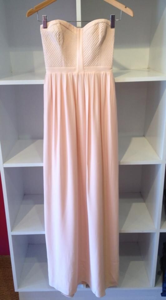 Parker strapless floor length dress,