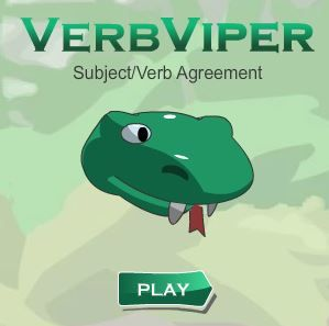 ONLINE RESOURCE SUBJECT VERB AGREEMENT~  Verb Viper is a fun educational game that encourages students to choose correct verb tenses (present, past, past participle), recognize correct verb forms (ran instead of runned), and recognize subject/verb agreement (I am, he is).