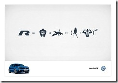 VW Golf R Iconography