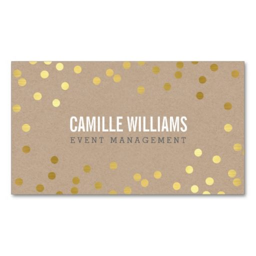 PLAIN BOLD MINIMAL confetti gold eco natural kraft Business Card Templates. Make your own business card with this great design. All you need is to add your info to this template. Click the image to try it out!