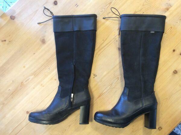 Norteamérica Intolerable Sociedad  Clarks Ladies Knee-High Boots Fianna Phoenix Dark Brown Combi UK 5D RRP  £100#Boots, #Women's Shoes, #Clothing, Shoes…   Boots, Womens knee high  boots, Black leather